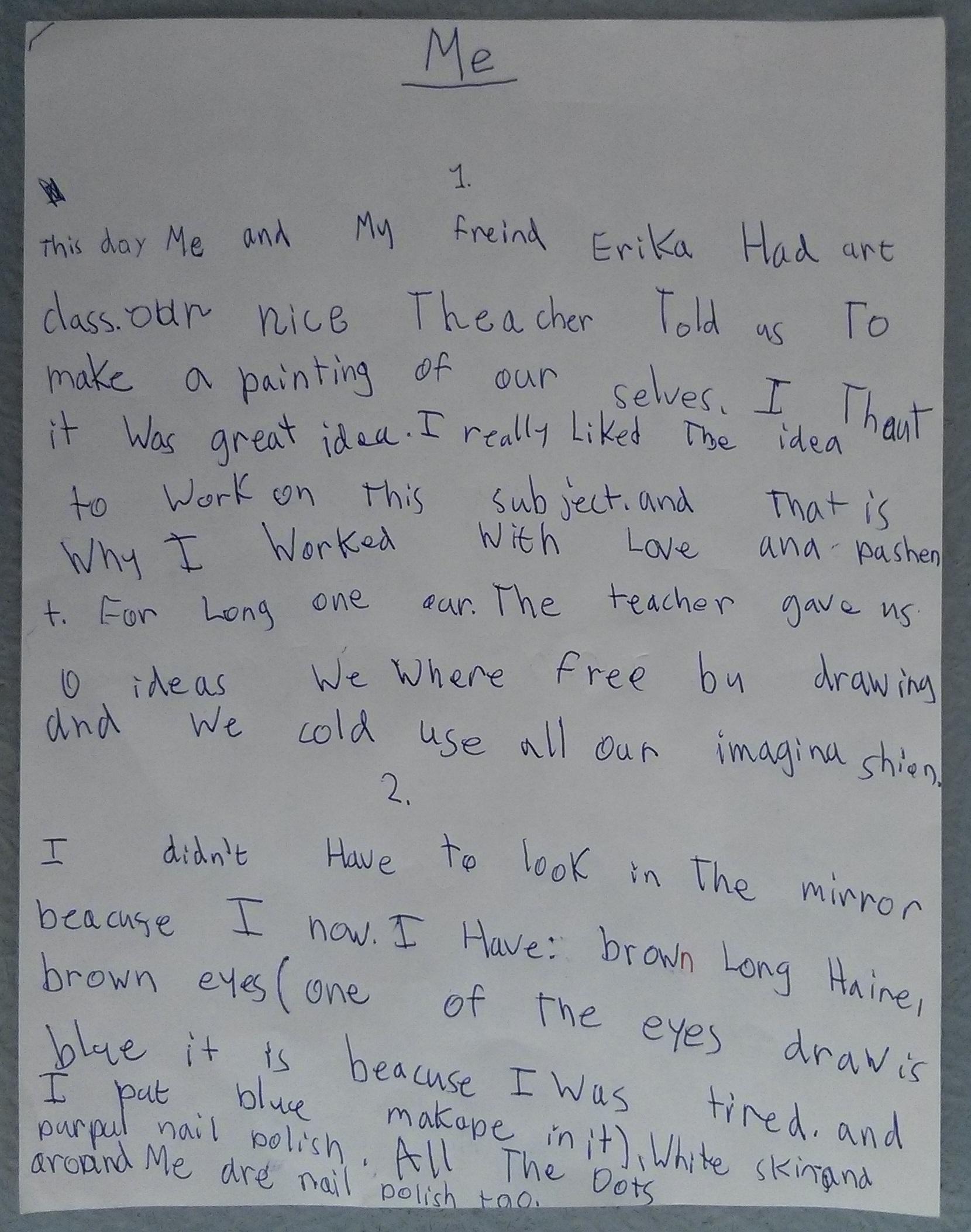 Handwritten text version